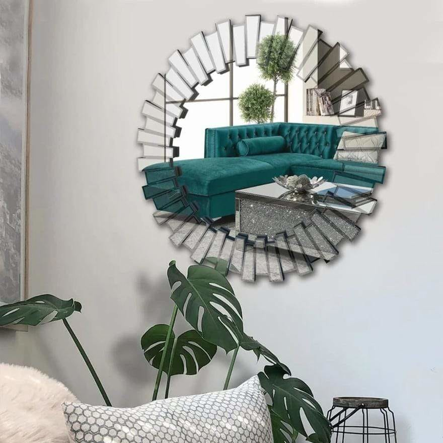 Contemporary Floating Wall Mirror with Designer Frame