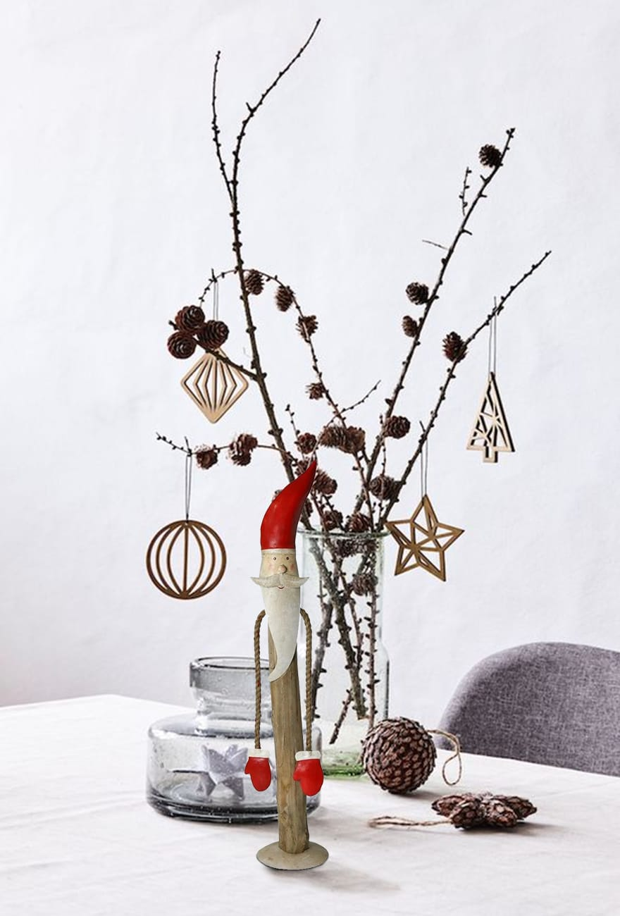 Santa Claus Accent Decor with Rope Hands