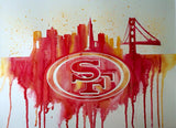 "San Francisco 49ers 12""x16"" Pre-Masked Watercolor Canvas"