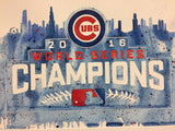 "Chicago Cubs 2016 World Series 12""x16"" Pre-Masked Watercolor Canvas"