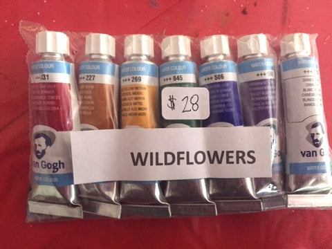 Wildflowers Watercolor Paint Tube Set