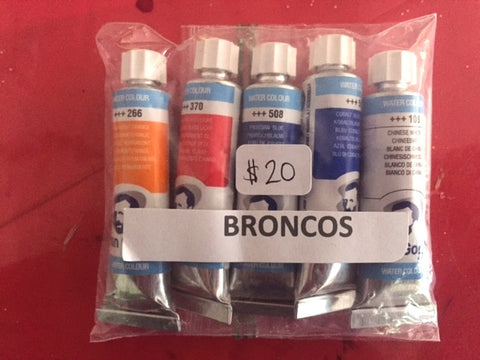 Broncos Watercolor Paint Tube Set