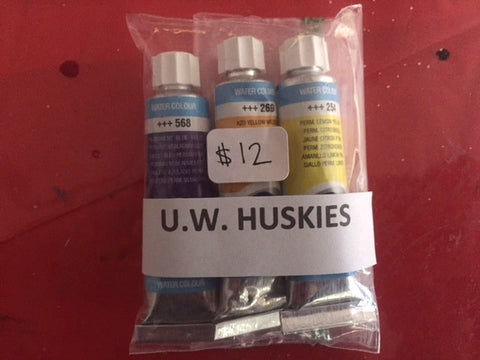 UW Huskies Watercolor Paint Tube Set