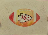 "Team Logo Football Pre-Masked 9""x12"" Watercolor Canvas"