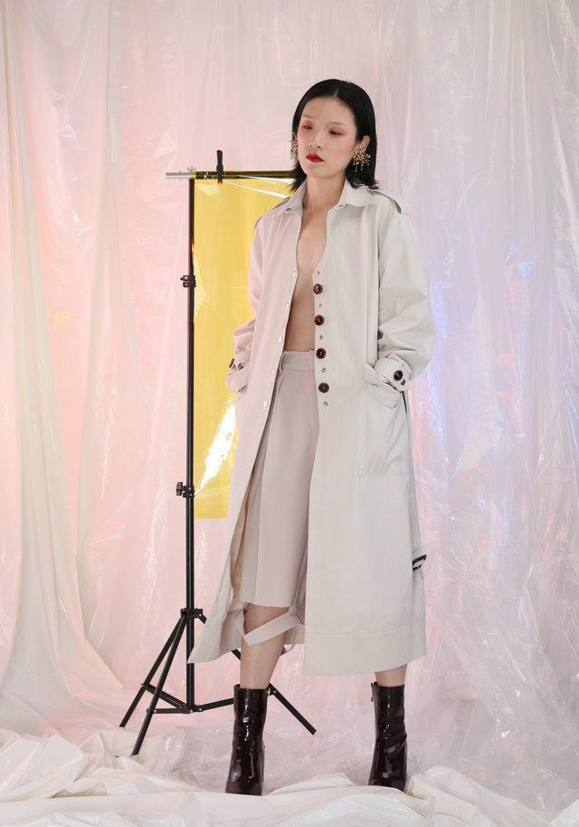 Marigold Shadows coats Supai Belted Trench Coat