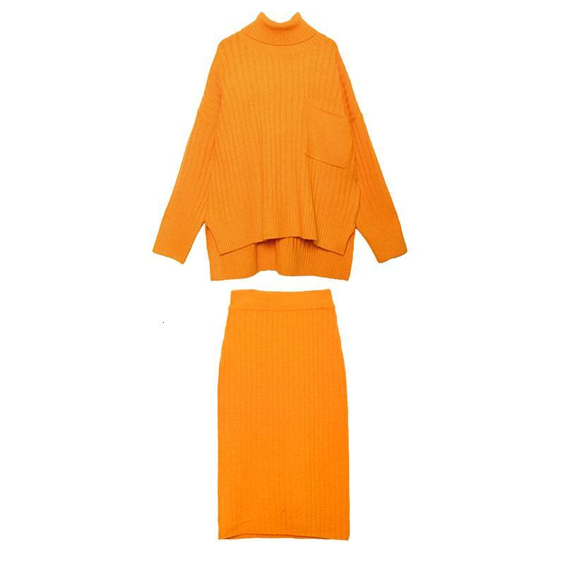 Marigold Shadows dresses Chitose Knit Sweater & Mid-Calf Skirt Set
