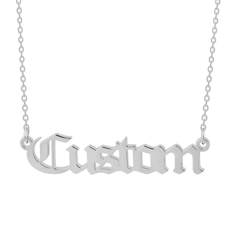 Marigold Shadows jewelry Himiko Custom Name Old English Necklace