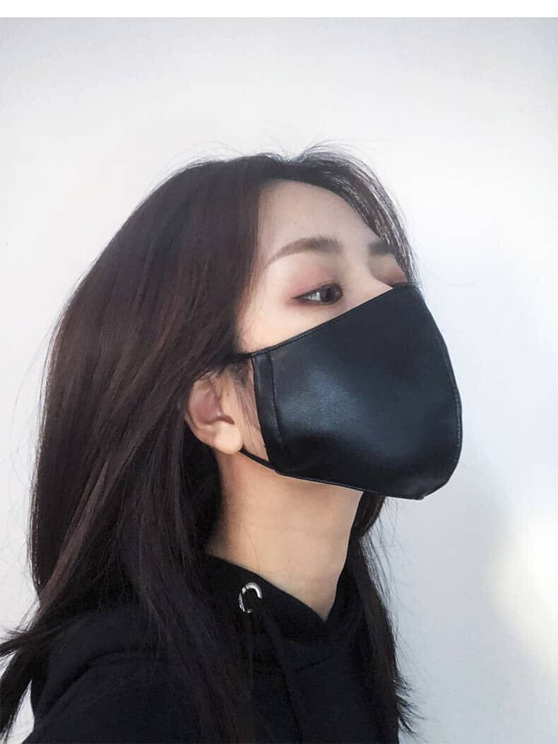 Marigold Shadows masks Yuzuki Vegan Leather Face Mask - Yellow