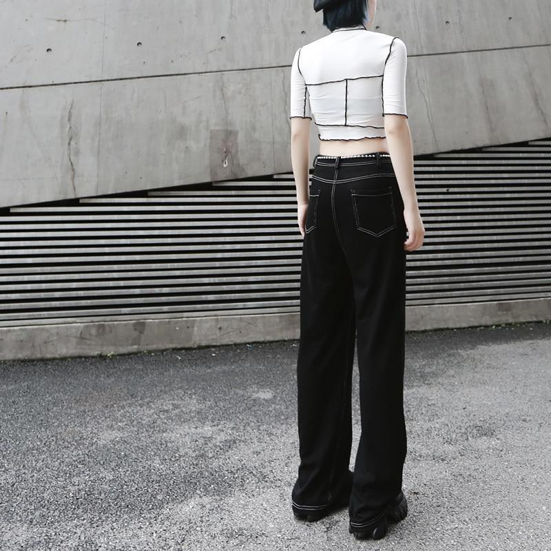 Marigold Shadows pants Tomoka High Waist Denim Long Pants