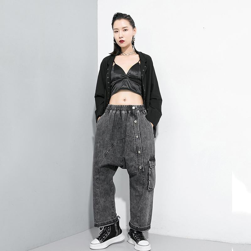 Marigold Shadows pants Tomomi High Waist Pocket Wide Leg Pants