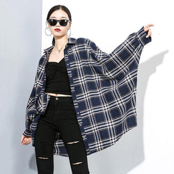 Marigold Shadows shirts Kozakura Plaid Long Sleeve Shirt