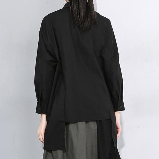 Nyoko Asymmetrical Long Sleeve Shirt
