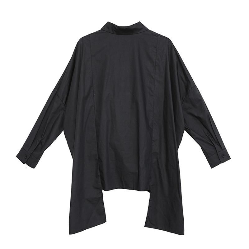 Marigold Shadows shirts Nyoko Asymmetrical Long Sleeve Shirt