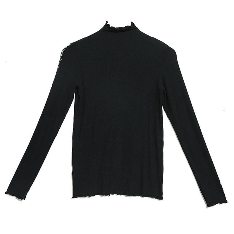 Marigold Shadows sweaters Chinami Turtleneck Knitted Sweater - Black