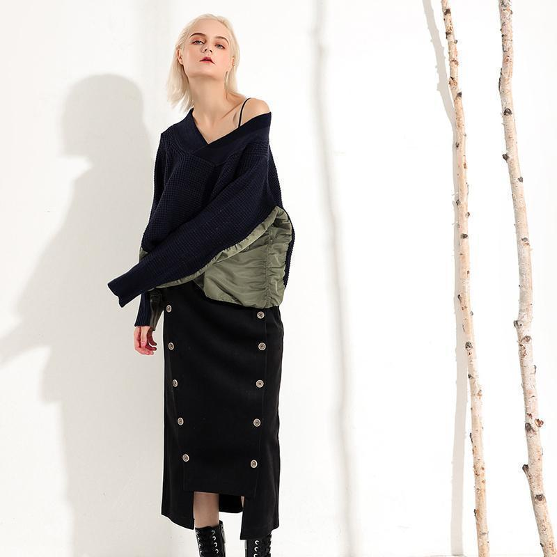 Marigold Shadows sweaters Neeto V-collar Sweater