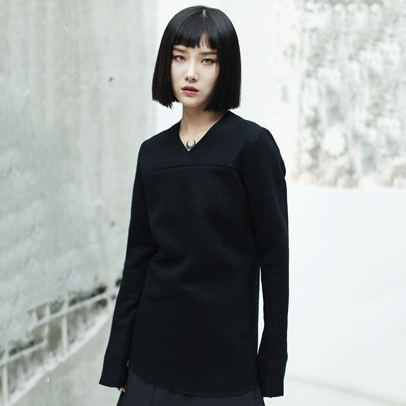 Marigold Shadows sweaters Yasuo V-collar Long Sleeve Sweatshirt
