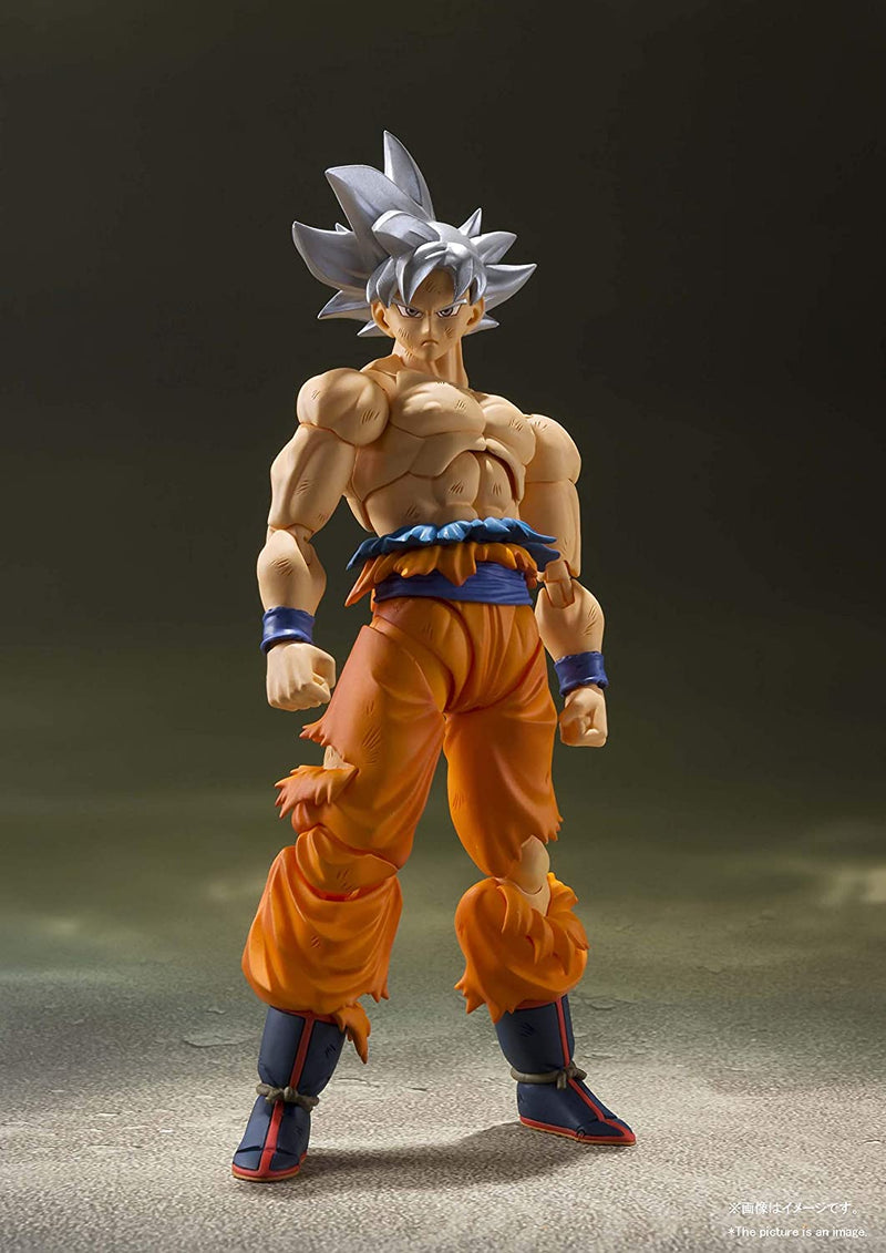Bandai Action Figures Dragon Ball Super: Son Goku Ultra Instinct S.H.Figuarts Action Figure by Bandai Tamashii Nations Popoloco