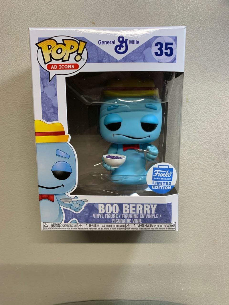 Exclusive POP Exclusive Funko POP! Ad Icons: Boo Berry With Cereal BOX NOT MINT
