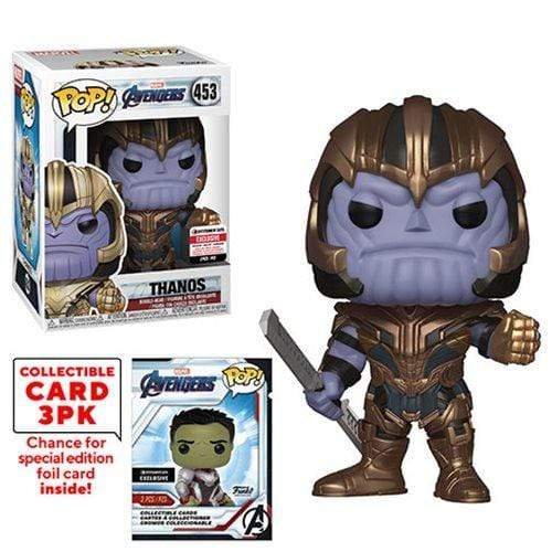 Exclusive POP Exclusive Funko POP! Avengers: Endgame Thanos with Collector Cards + PopShield - EE Exclusive Popoloco