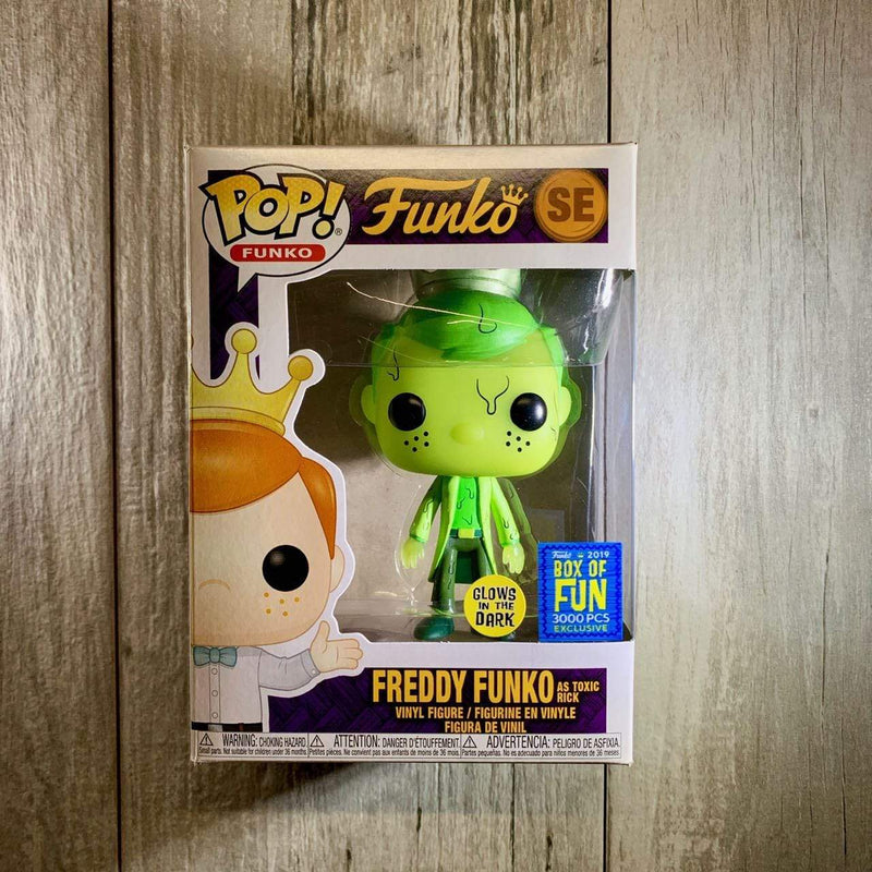 Exclusive POP Exclusive Funko POP Freddy Funko As Toxic Rick SE 2019 Box of Fun Popoloco