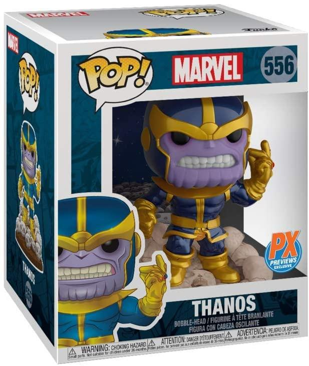 Exclusive POP Exclusive Funko POP! GotG Thanos Snap 6-Inch Pop! Vinyl Figure & Comic - PX Popoloco