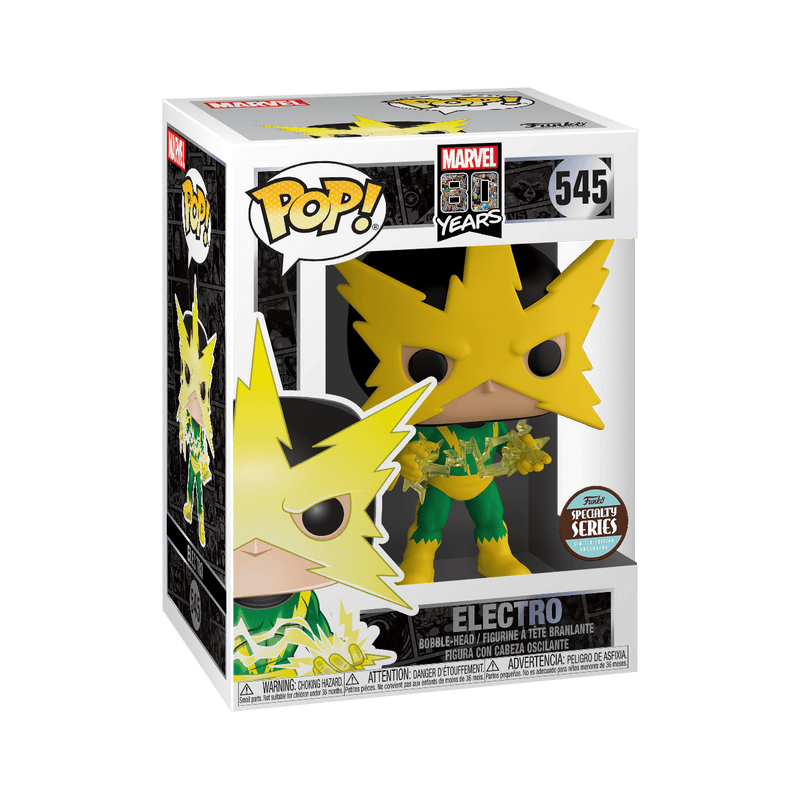 Exclusive POP Exclusive Funko POP Marvel 80th Marvel 80th First Appearance Electro - Exclusive Popoloco