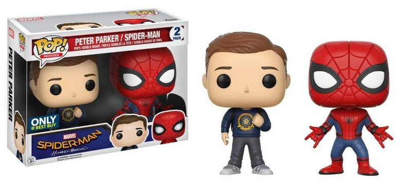 Exclusive POP Exclusive Funko POP Marvel: Spider-Man and Peter Parker 2-Pack Popoloco