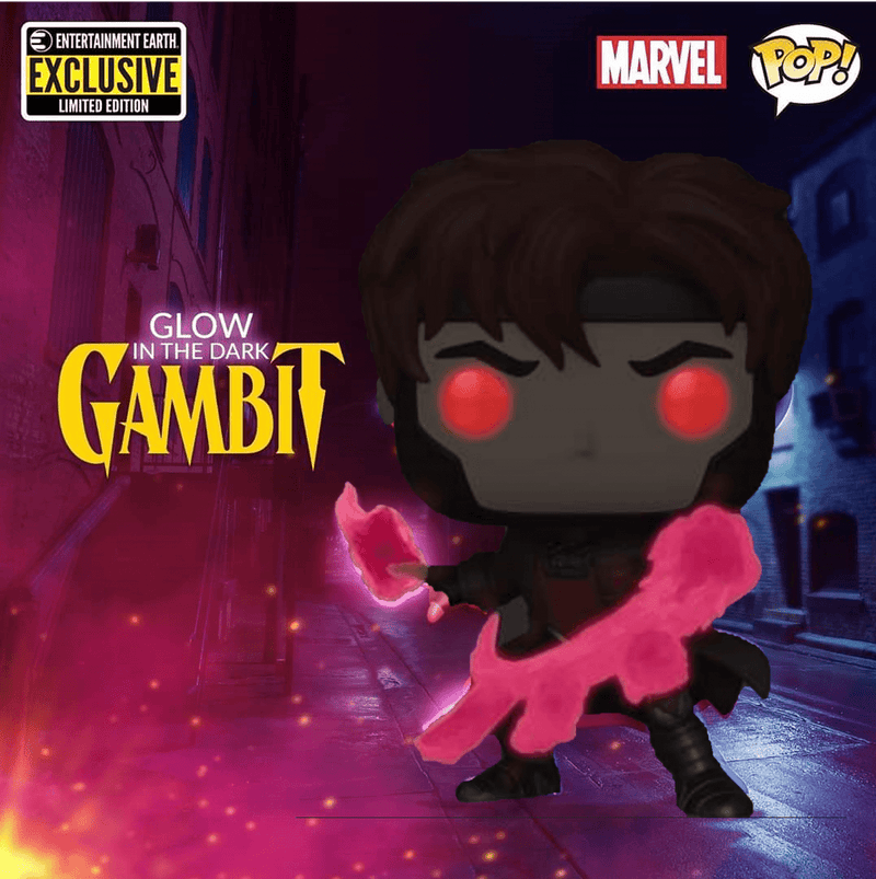 Exclusive POP Exclusive Funko POP Marvel X-Men Gambit - Glow Exclusive