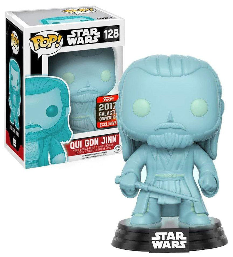 Exclusive POP Exclusive Funko POP Star Wars: Qui Gon Jinn (Holographic) 2017 Galactic Convention