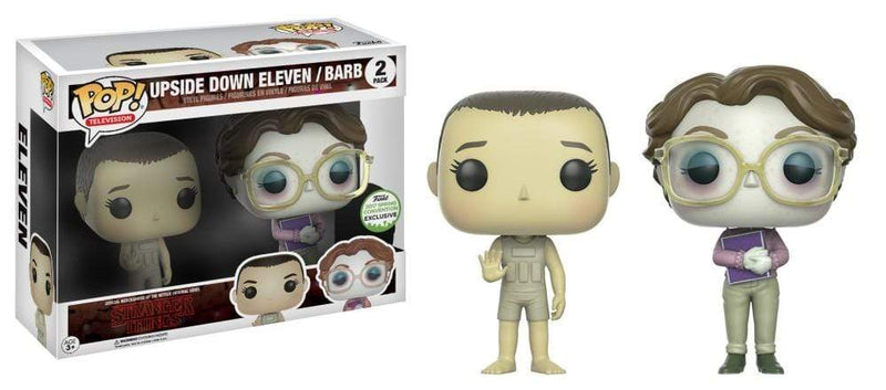 Exclusive POP Exclusive Funko POP! Television Stranger Things Upside Down Eleven/Barb 2 Pack Popoloco