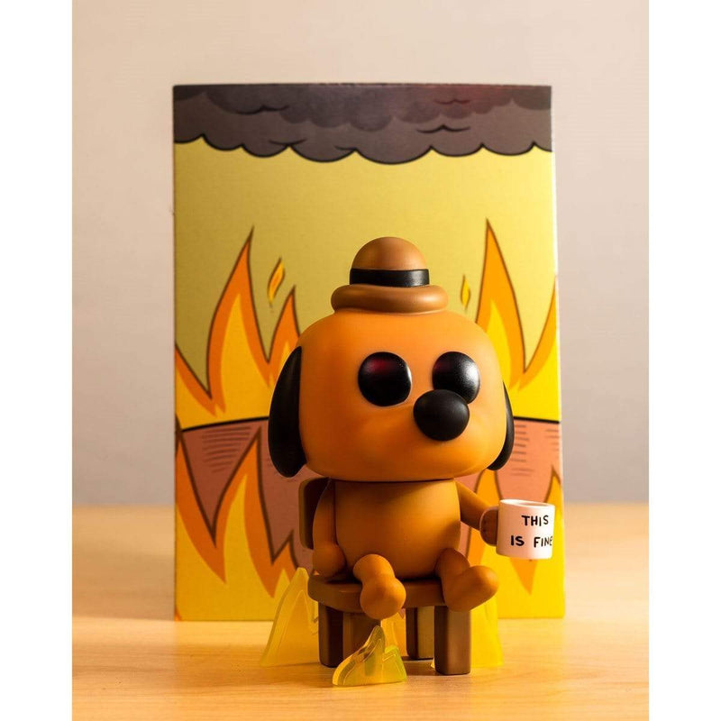 Exclusive POP Exclusive This is Fine Dog Pop! Vinyl Figure - Entertainment Earth Exclusive Popoloco
