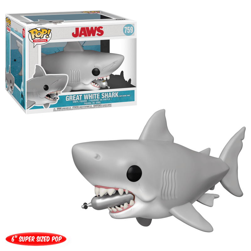 Funko POP Funko POP! Movies: Jaws with Diving Tank 6-inch Figure Popoloco