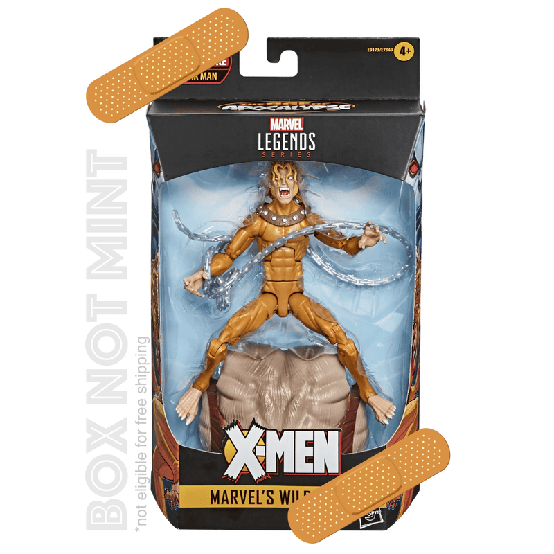 Hasbro Action Figures *Box not Mint* Marvel Legends Series Wild Child X-Men: Age of Apocalypse Popoloco