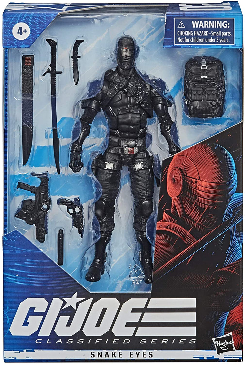 Hasbro Action Figures G.I. Joe Classified Series Snake Eyes 6 in. Action Figure Popoloco