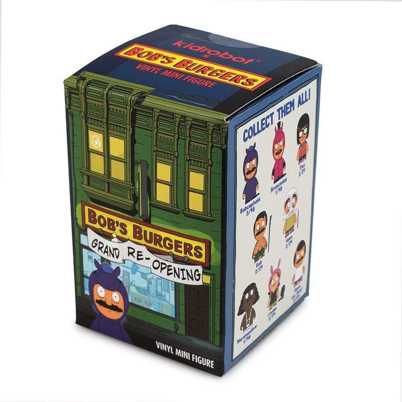 "Kidrobot Vinyl Collectible Kidrobot - Bob's Burgers Grand Re-Opening 3"" Blind Box Mini Figures - 4 Pack Bundle Popoloco"