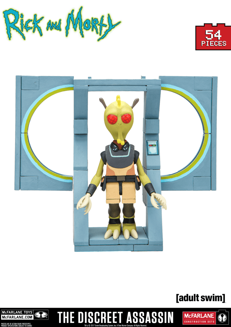 McFarlane Construction Sets Rick & Morty the Discreet Assassin Micro Construction Set Popoloco
