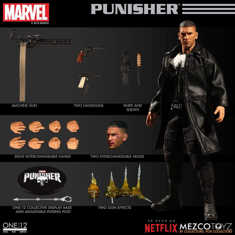 Mezco Action Figures Punisher Netflix One:12 Collective Action Figure Popoloco
