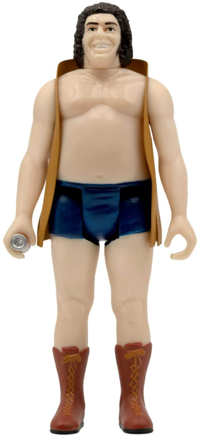 Super7 Action Figures Andre The Giant with Vest - 4 1/4 in. ReAction Figure Popoloco