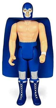 Super7 Action Figures Legends of Lucha Libre Blue Demon Jr.3 3/4 in. ReAction Figure Popoloco