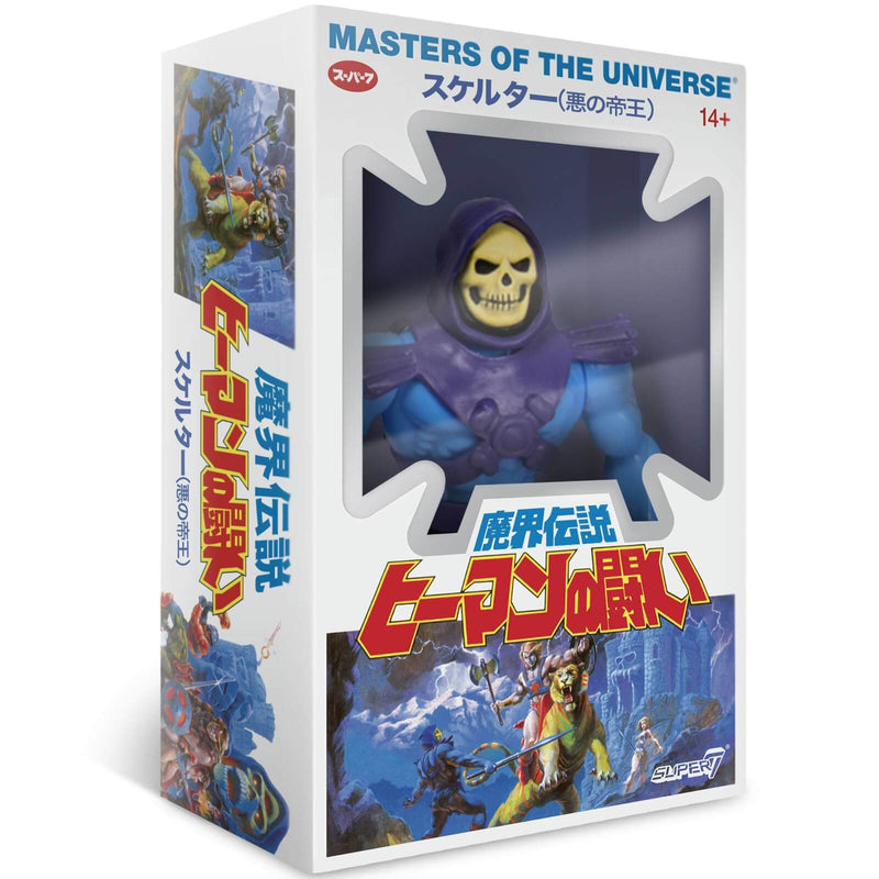Super7 Action Figures Masters of the Universe Vintage Japanese Box Skeletor 5 1/2-Inch Action Figure Popoloco