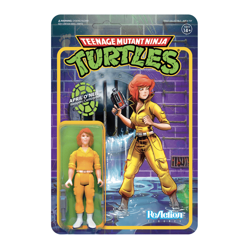 Super7 Action Figures Teenage Mutant Ninja Turtles April O'neil 3 3/4-Inch ReAction Figure Popoloco