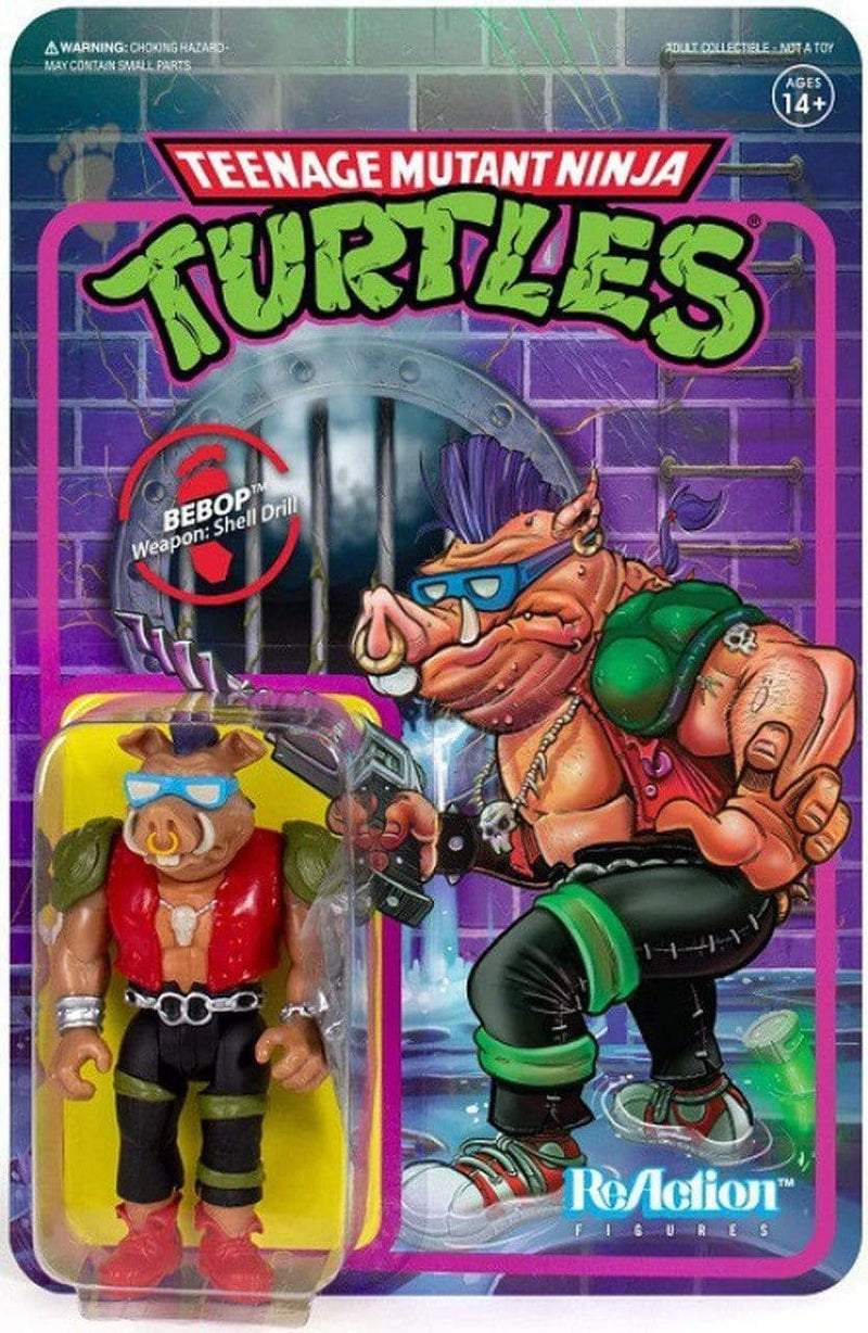 Super7 Action Figures Teenage Mutant Ninja Turtles Bebop 3 3/4-Inch ReAction Figure Popoloco