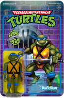 Super7 Action Figures Teenage Mutant Ninja Turtles Leonardo 3 3/4-Inch ReAction Figure Popoloco