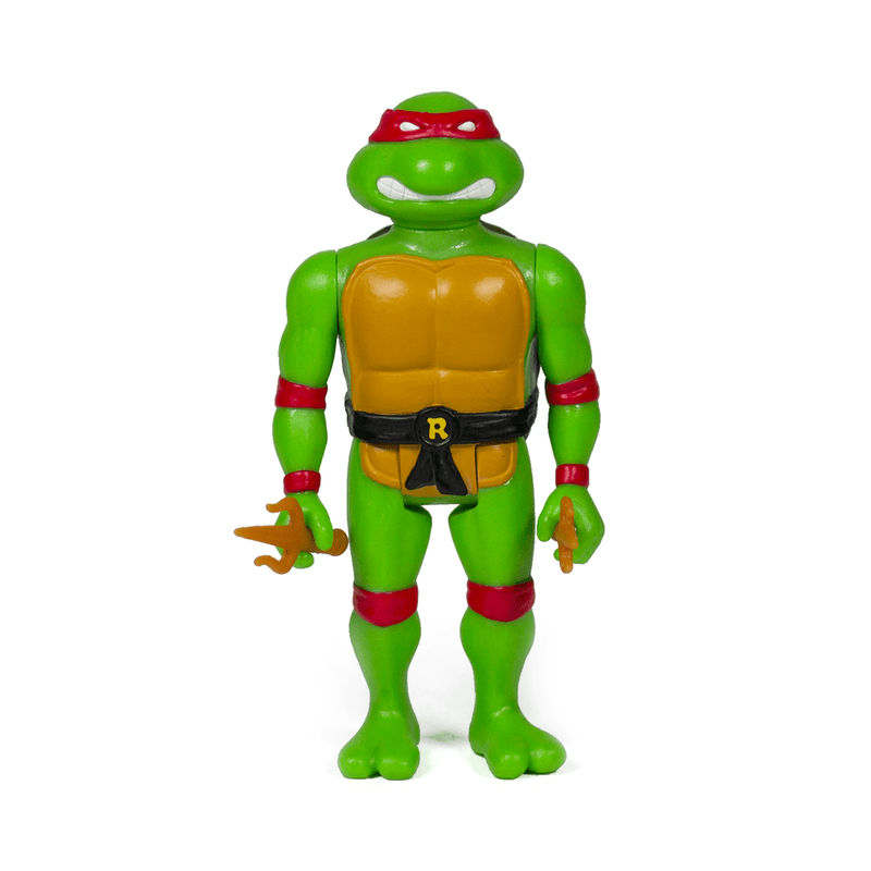 Super7 Action Figures Teenage Mutant Ninja Turtles Raphael 3 3/4-Inch ReAction Figure Popoloco