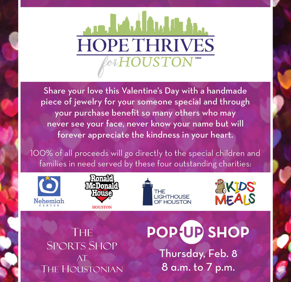 Pop-up shop Thursday, February 8 - The Sports Shop at The  Houstonian