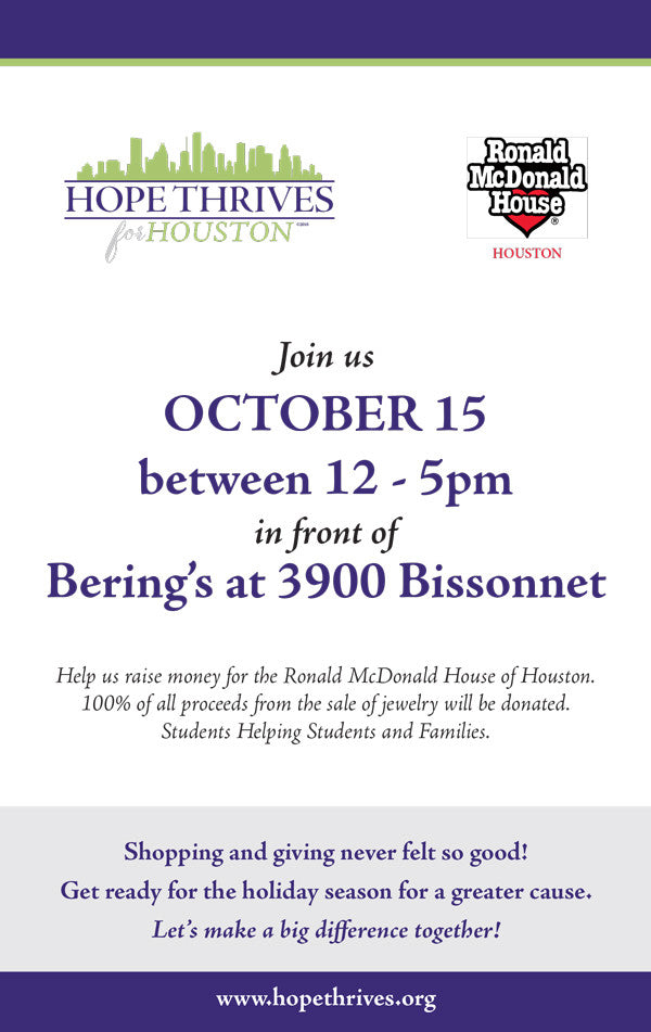 Jewelry Sale at Bering's October 15, 12-5 pm