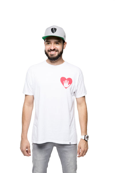 Hand Over Heart Tee - White/Red