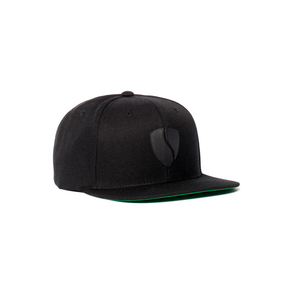 Hercules Hat / Black - Black Leather