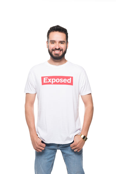 Exposed Tee- White/Red