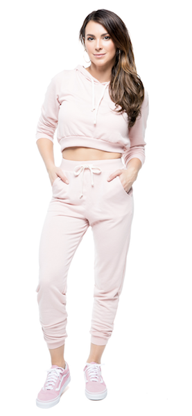 Zoey Tracksuit - Dusty Rose